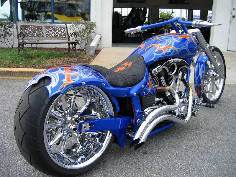 2004 BMS Choppers Blue Crush Warrior Exterior - image 497979
