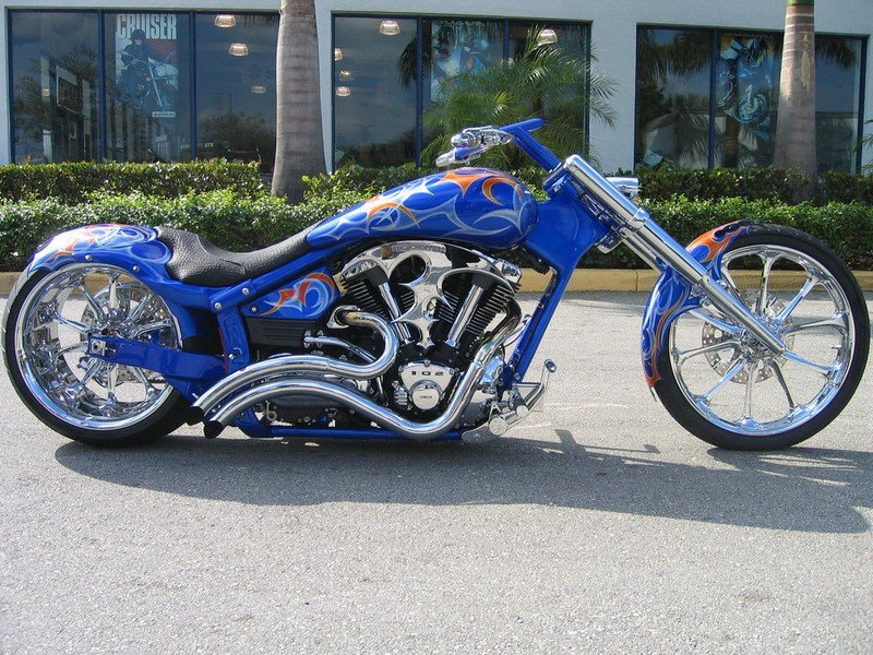 2004 BMS Choppers Blue Crush Warrior Exterior - image 497980