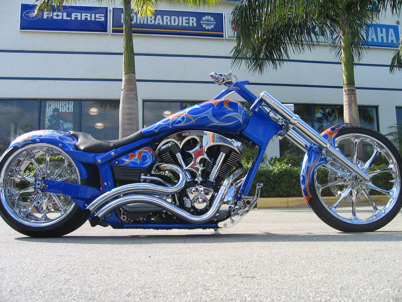 2004 BMS Choppers Blue Crush Warrior Exterior - image 497982