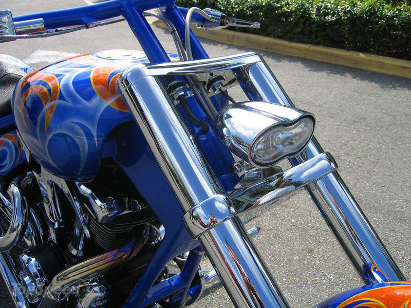 2004 BMS Choppers Blue Crush Warrior Exterior - image 497985