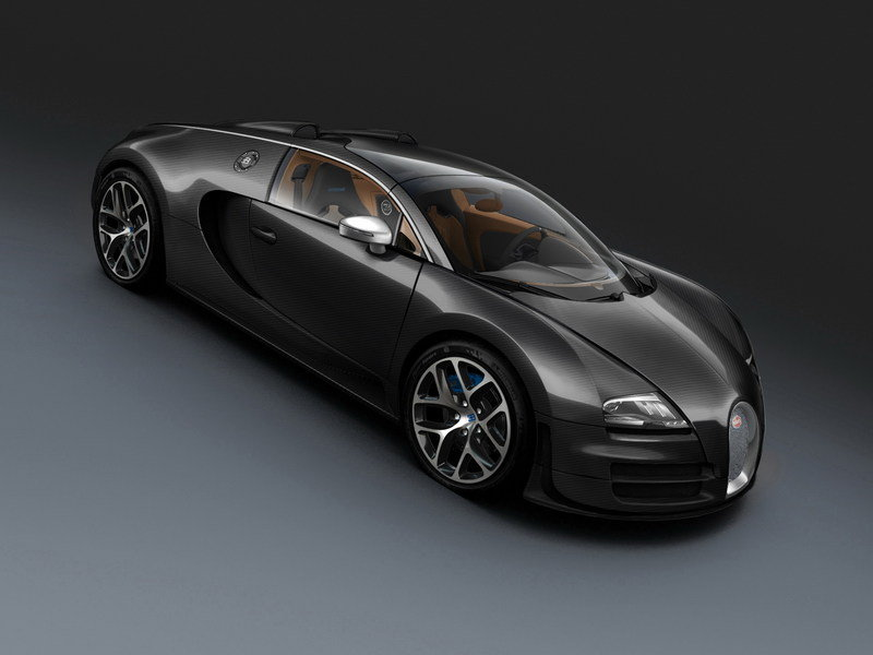 2013 Bugatti Veyron 16.4 Grand Sport Vitesse Black Carbon High Resolution Exterior Wallpaper quality - image 495622