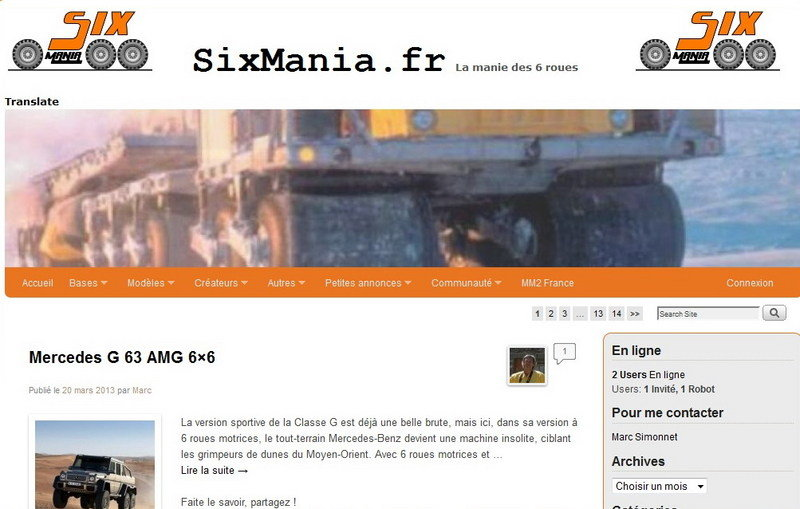 Featured Website: SixMania - A Website for Those Who Prefer Six-Wheelers