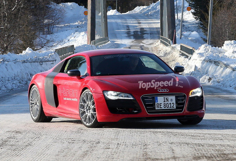 Spy Shots: Just When You Thought it was Dead, the Audi R8 E-tron is Caught Testing
