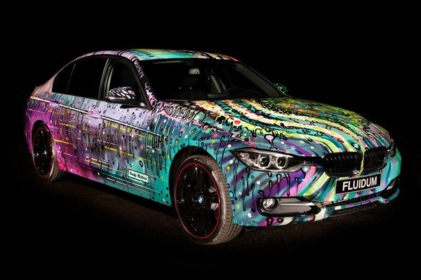 bmw 3-series fluidum art car by andy reiben picture