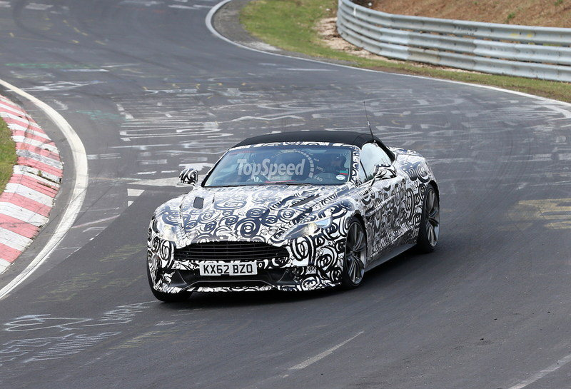 Spy Shots: Aston Martin Vanquish Volante Caught Testing at Nurburgring