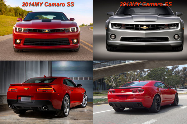 On the outside, the 2014 Camaro SS looks pretty similar to the 2013