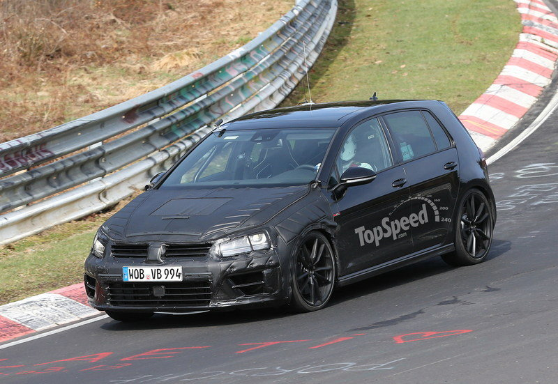 Spy Shots: Volkswagen Golf R Caught Testing at Nürburgring