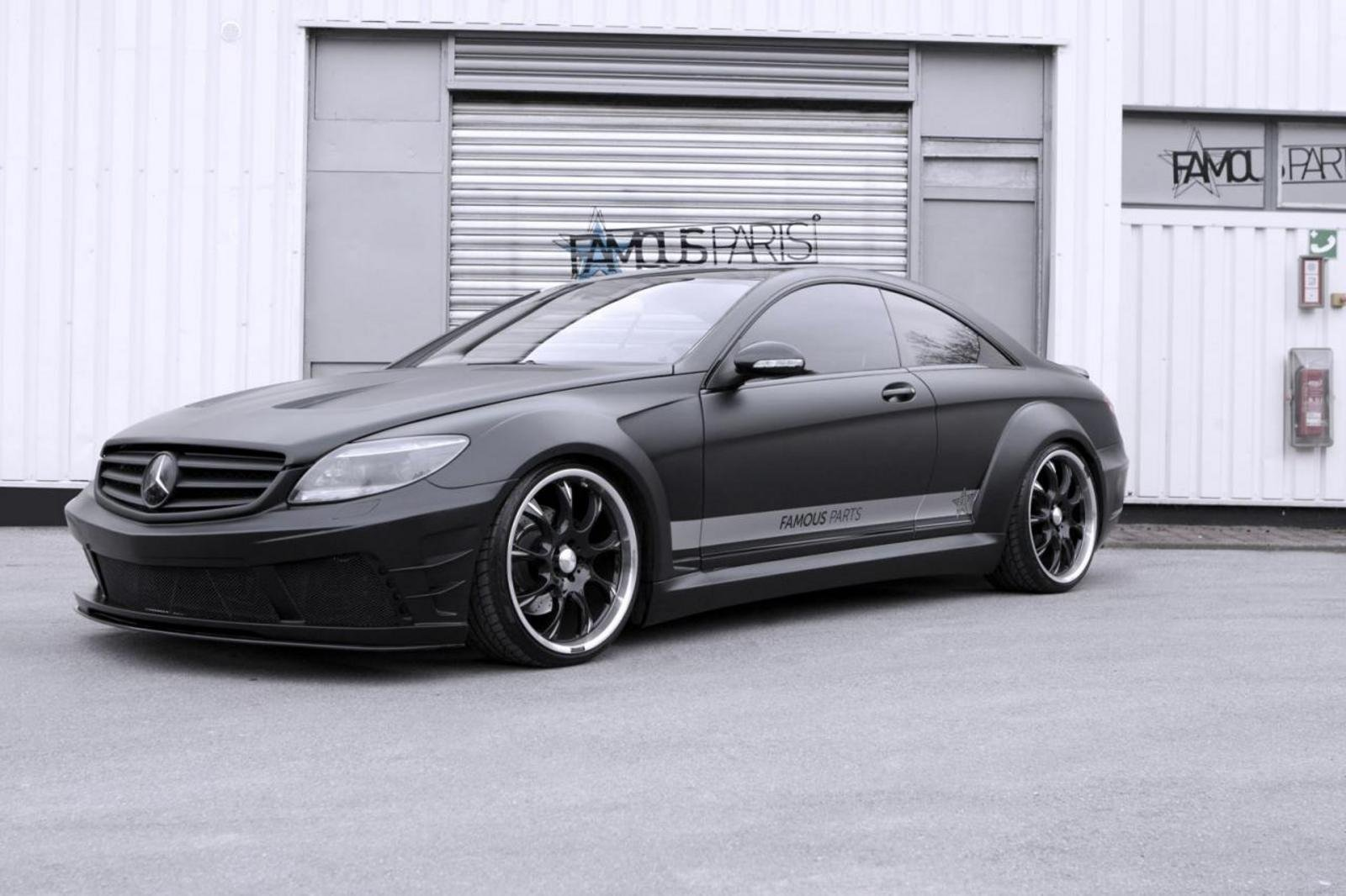 2013 mercedes benz cl 500 black matte edition by famous parts review top speed. Black Bedroom Furniture Sets. Home Design Ideas