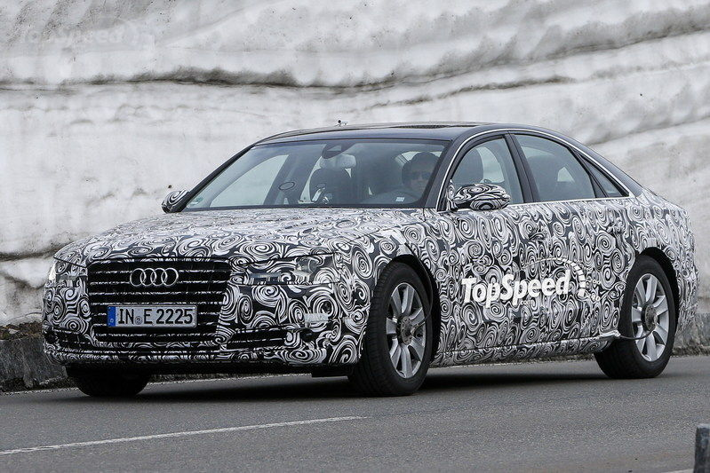 Spy Shots: Revised Audi A8 Caught Testing in the Alps