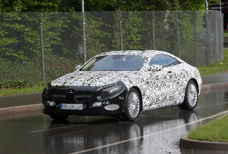 Spy shots: Mercedes S-Class Coupe Caught Testing in Germany