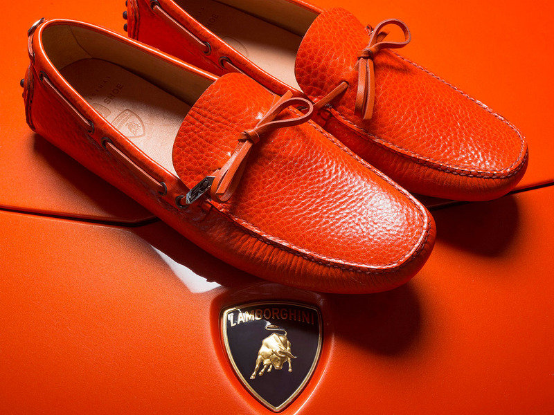 Car Shoe Celebrates Lamborghini's 50th Anniversary with Moccasin Shoes