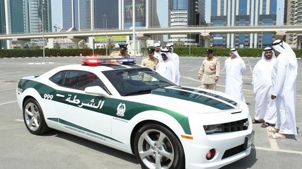 chevrolet camaro ss is also part of dubai police fleet picture