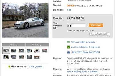 Fisker Karmas Hitting Ebay for as Low as $40K
