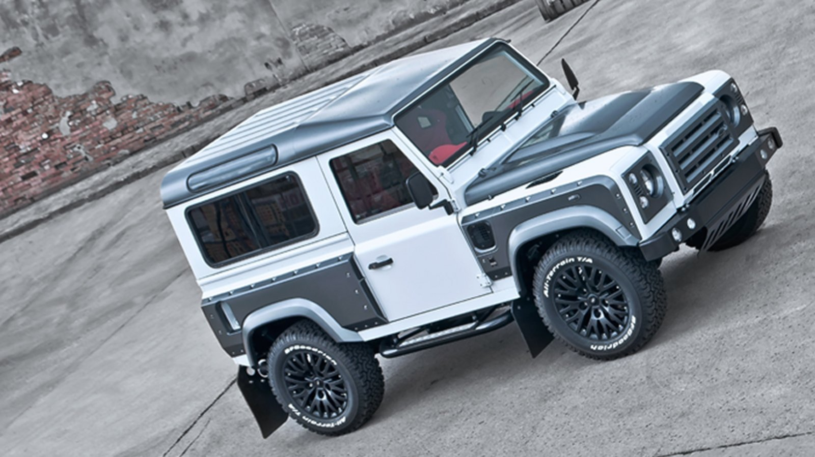 2013 land rover defender chelsea wide track fuji white by kahn design review top speed. Black Bedroom Furniture Sets. Home Design Ideas