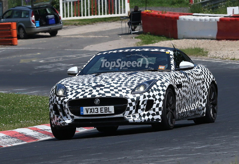 Spy Shots: Jaguar F-Type Coupe Caught Testing at the `Ring