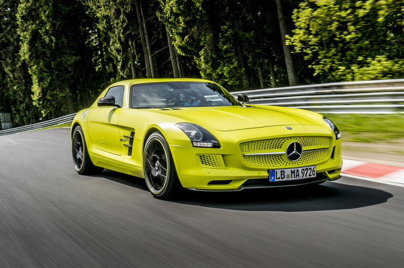 Mercedes SLS AMG Coupe Electric Drive Laps Nordschleife in 7:56