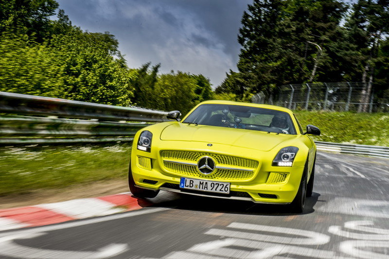 Mercedes SLS AMG Coupe Electric Drive Laps Nordschleife in 7:56 High Resolution Exterior - image 509644