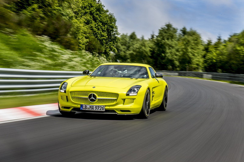 Mercedes SLS AMG Coupe Electric Drive Laps Nordschleife in 7:56 High Resolution Exterior - image 509645
