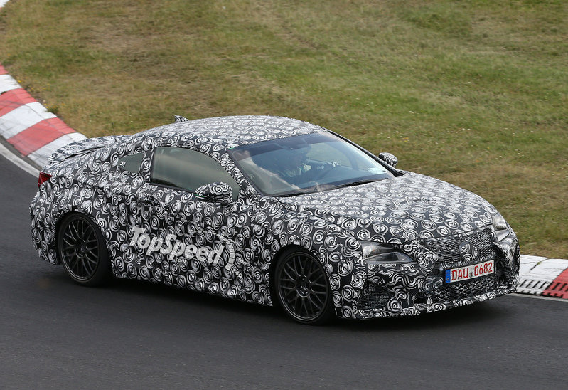 Spy Shots: Lexus IS F Coupe (AKA RC F) Hits Nurburgring