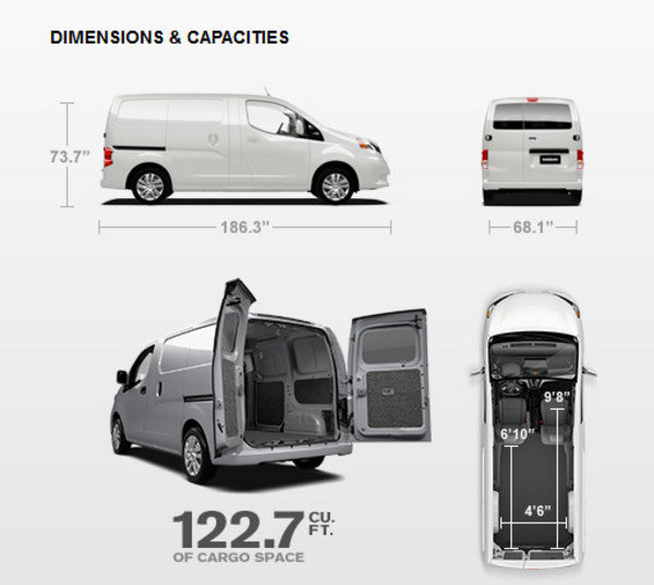 Chevrolet City Express Cargo Dimensions 2017