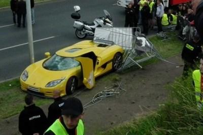 Koenigsegg CCR Crashes in Poland, Injuring Nearly 20 Spectators