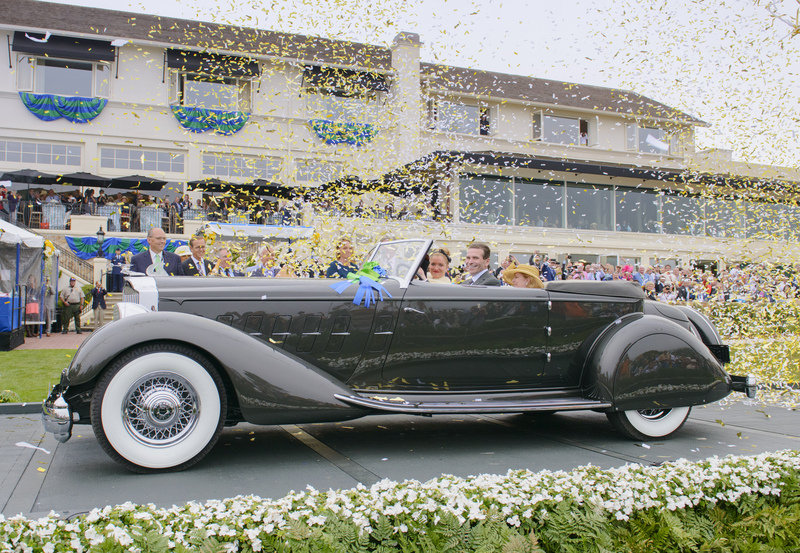 "1934 Packard 1108 Twelve Dietrich Convertible Victoria Takes ""Best in Show"" at Pebble Beach"