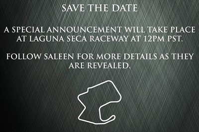 "Saleen Teases a ""Special Announcement"" on August 17th"