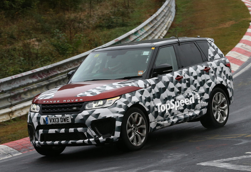 Spy Shots: Land Rover Range Rover Sport R-S Caught Testing on Nurburgring