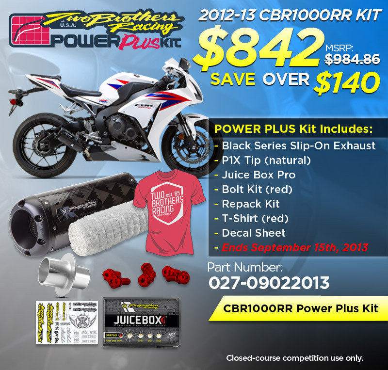 TBR Power Plus kit for the Honda CBR1000RR