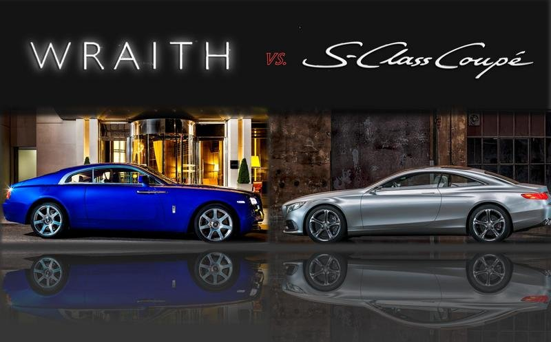 TopSpeed Design Showdown: 2014 Rolls-Royce Wraith vs 2013 S-Class Coupe Concept