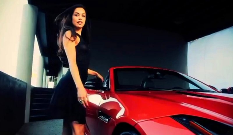 Video: Playboy Playmate of the Year Wins Jaguar F-type
