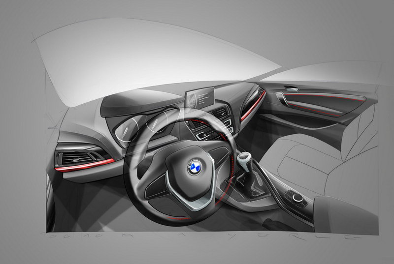 2014 - 2015 BMW 2 Series Coupe Interior Drawings - image 530088