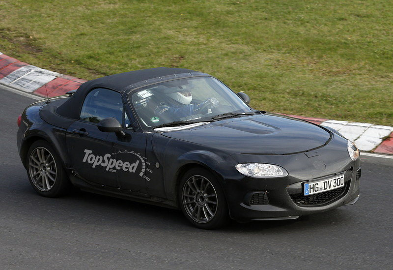 Spy Shots: Mazda MX-5 and Alfa Romeo Spider Mule Laps the Nurburgring