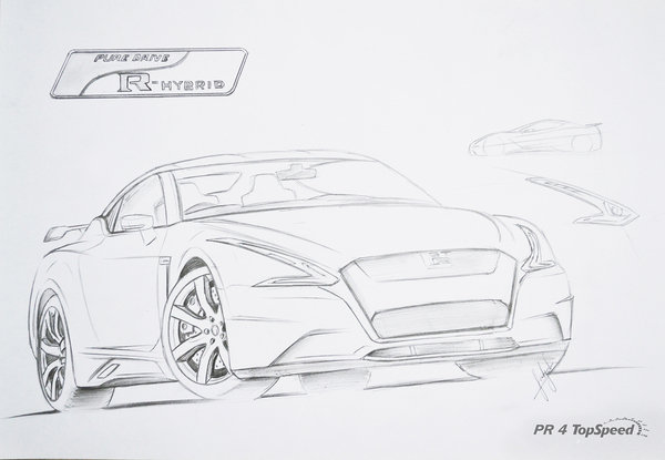 nissan gtr nismo coloring pages - photo#25