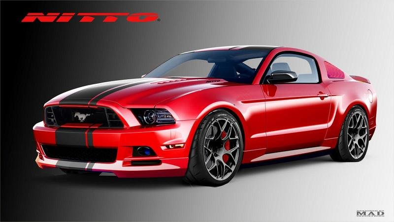 2014 Ford Mustang GT Nitto Tire Exterior Computer Renderings and Photoshop - image 529049
