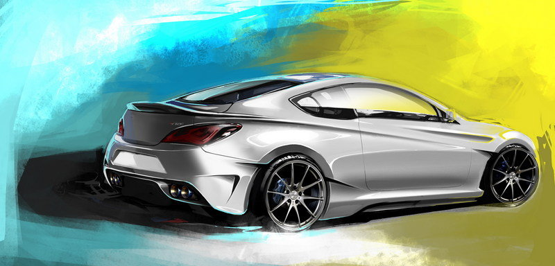 2013 Hyundai Genesis Coupe Legato Concept by ARK Performance Exterior Drawings - image 527407