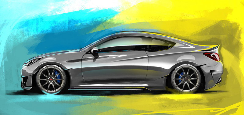 2013 Hyundai Genesis Coupe Legato Concept by ARK Performance Exterior Drawings - image 527408