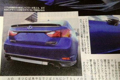 Leaked Japanese Magazine may Show the 2015 Lexus GS F