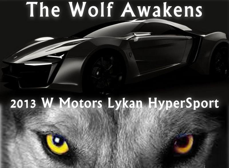 The Lykan HyperSport Is Ready! W Motors Confirms Debut For Dubai Motor Show
