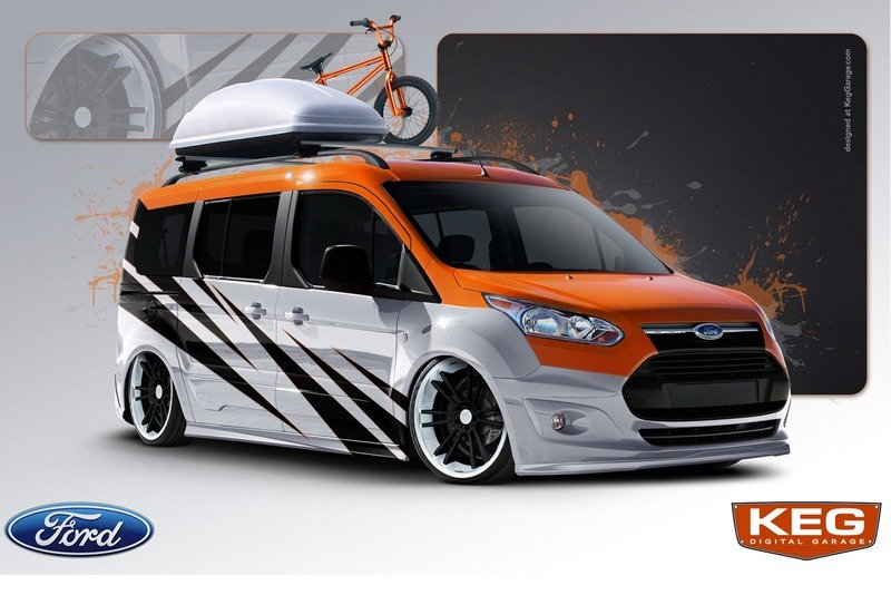 Vandemonium Hits Fever Pitch With 10 Customized Ford Transit Connect Vehicles Exterior Drawings - image 530194