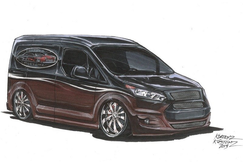 Vandemonium Hits Fever Pitch With 10 Customized Ford Transit Connect Vehicles Exterior Drawings - image 530197