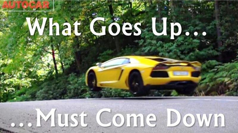 Video: Lamborghini Aventador Takes Flight With AutoCar