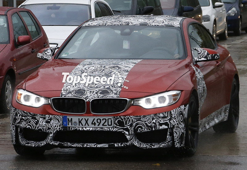 Spy Shots: BMW M4 Coupe Shows Off its Sakhir Orange Body