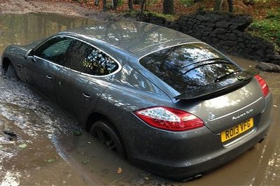 Andre Wisdom Gets His Porsche Panamera Stuck in Mud Trying to Get to His Soccer Match