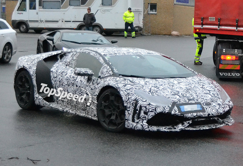 Spy Shots: Lamborghini Gallardo Successor Caught Testing in the Rain