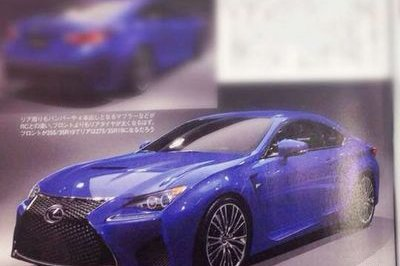 2015 Lexus RC F Leaked In Japanese Magazine Scans