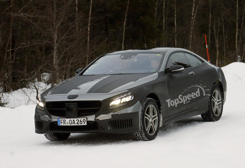 Spy Shots: Mercedes-Benz S-Class Coupe Caught During Winter Testing