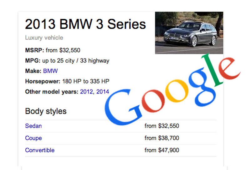 Google Knowledge Graph Simplifies Online Car Research