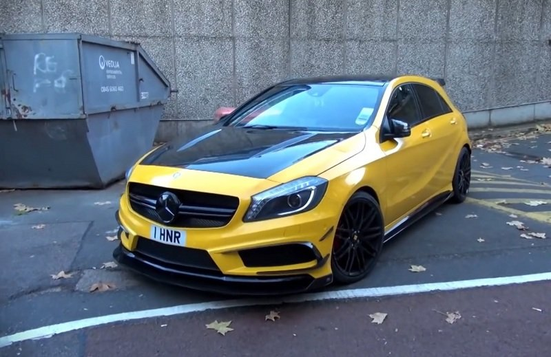 "2014 Mercedes-Benz A45 AMG ""Black Series"" with RevoZport kit"