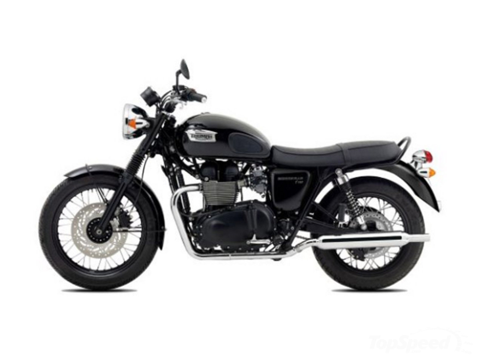 2014 triumph bonneville t100 black review top speed. Black Bedroom Furniture Sets. Home Design Ideas